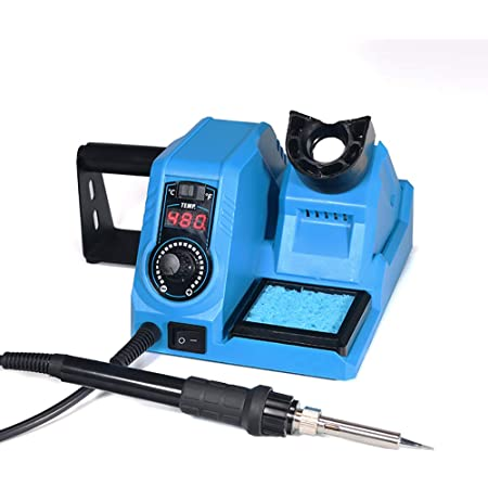 Soldering Iron Station 392℉-896℉ Temperature Control (C/F) Fast Heat Up, Sleep Mode ESD & FCC SAFE CERTIFIED