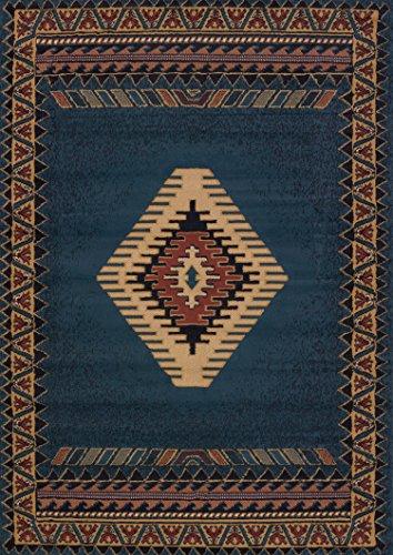 United Weavers of America Tucson Manhattan Rug Collection, 5'3' x 7'6', Blue