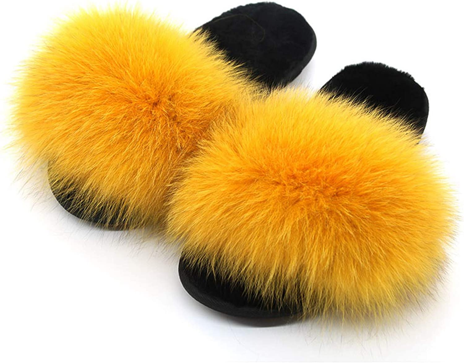NOMIMAS Womens Wool Slippers Fluffy Slides Soft Warm Indoor Flip Flops for Woman Causal Fuzzy Plush shoes