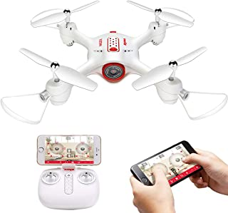 Drone with Camera for Adult and Kids Syma X23W Mini Remote Drone with WiFi Live Stream APP Control,Headless Mode,360 Degree Flip Hover Drone,RC Control Quadcopte Easy for Beginner,White