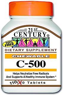 21st Century C-500 mg Orange Flavor Chewables - 110 Tablet