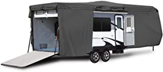 Waterproof Durable RV Motorhome Travel Trailer/Toy Hauler Cover Fits Length 27'-30' Travel Trailer Camper Zippered Panels ...