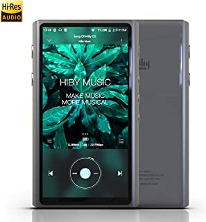 HiBy R5 High Resolution Lossless MP3 / MP4 Music Player, Hi-Res Audio Player with HiFi Bluetooth/apt X HD/LDAC/USB DAC/Android 8.1 / UAT/FM Radio/E-Book,Support WiFi with Full Touch Screen
