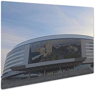 Ashley Giclee Minskarena Sport Complex Was Built For Carrying Out World Ice, Wall Art Photo Print On Metal Panel, Color, 8x10, Floating Frame, AG5854870