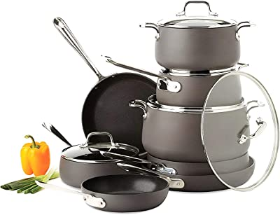 Amazon Com Calphalon Unison Nonstick 10 Piece Cookware