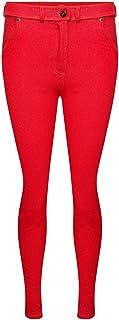 True Face Señoras Skinny Jeans Stretch Jeggings Pantalones de mezclilla Pantalones llanos Bolsillos