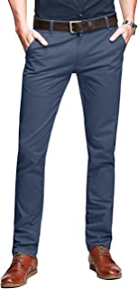 8025 - Pantalones Chino Slim Fit Casual de Algodón para Hombre