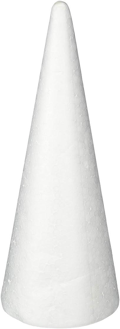 Bulk Buy: Darice DIY Crafts Durafoam Cone White 9.85 inches (6-Pack) 01260P