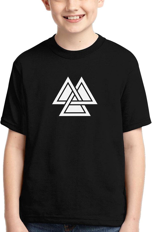 Valknut Viking Age Symbol Norse Warrior Boy Soft Casual Kids Tshirt Tee Shirt 3D
