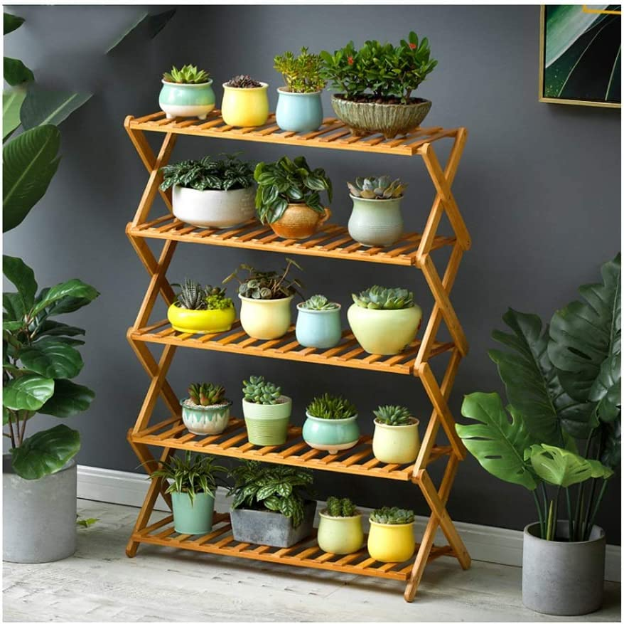Plant Stand Rack Planter Folding Max 61% OFF Garden Tier 5 outlet