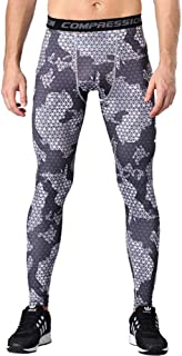 Mens Compression Pants,Running Tights Pants Elasticity Cool Dry Workout Pants Compression Leggings for Running Basketball Football Jogging,B,XXXL