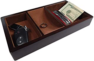 Woltar Wooden Valet Tray with 3 Compartment