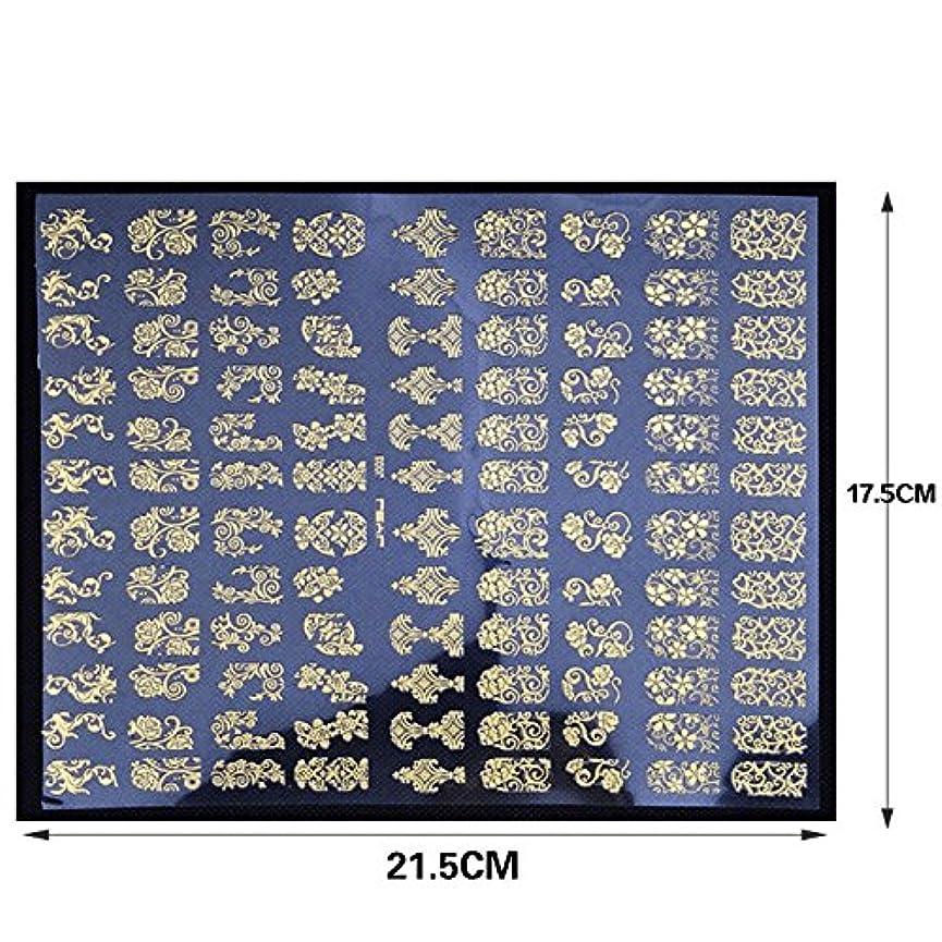 無傷最小化するさようならネイルステッカー 1シート108枚 / ネイルシール/ネイルホイル/ネイルアートテープ/デコレーション/ジェルネイル (silver)