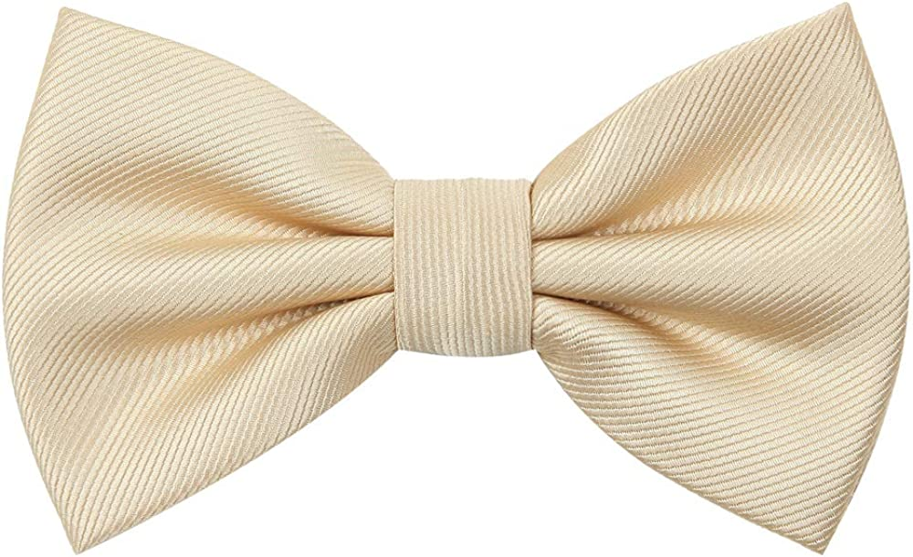 Mens Bowtie for Classic Pre-Tied Satin with Adjustable Neck Strap Formal Tuxedo Variety Colors Available
