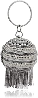 DIEBELLAU Women's Handbag Fashion Ball Banquet Bag Tassel Evening Bag (Color : Black, Size : XS)