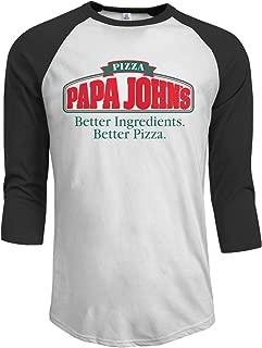 Men's Classic PAPA John's Logo T Shirt Casual Half Sleeve O-Neck Tee Shirts Cotton Summer T-Shirt