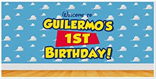 Toy Story Wall Birthday Banner Personalized Party Backdrop Decoration