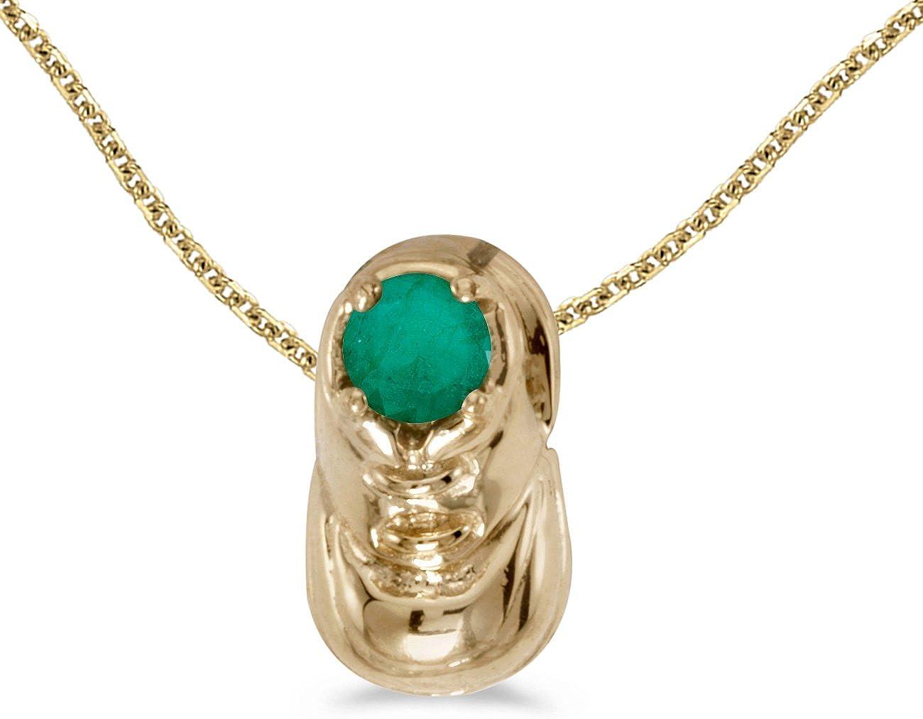 FB Jewels Solid 10k Yellow Gold Genuine Birthstone Freshwater Cu