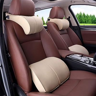 Anyshock Car Headrest Lumbar Pillow Neck Back S...