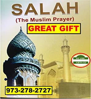 Islamic Salah-Salat Book Muslim Prayers Pocket Size Lot 48/96 English & Arabic(All in 1) How to Pray Images Muslim-Holy Quran Ramadan Book Gift Arabic Alphabet Islamic Gifts 123-FAST US delivery (96)