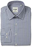 Ben Sherman Men's Slim Fit Check Spread Collar Dress Shirt, Multi, 15.5' Neck 34'-35' Sleeve