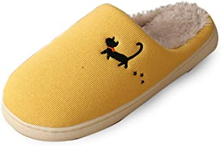 Men's Women's Unisex Cozy Memory Foam Slippers Fuzzy Wool-Like Plush Fleece Lined House Shoes w/Indoor,Outdoor Anti-Skid R...