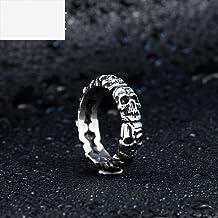 Vintage titanium stalen ring heren schedel persoon...