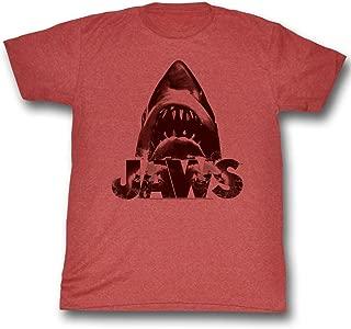 JAWS Men's Burnt T-Shirt Rusty Red Triblend