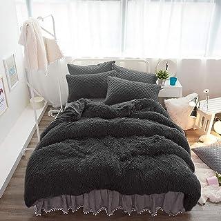 Flanell Schwarz//Wei/ß Cocooning 2 Personen Motiv: Karos sehr weich Bettbezug Stockholm 220 x 240 cm 100 /% Baumwolle Erwachsene