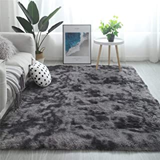 Modern Shaggy Rugs Fluffy Soft Touch Dazzle Sparkle Area Rug Carpet Large for Living Room Bedroom Floor Mat (Dark Grey,160...