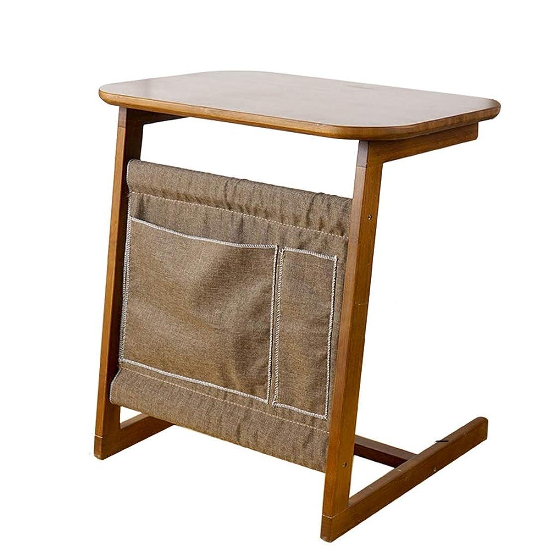 防水機械食堂QFF-コンピュータデスク ベッドサイドテーブル、シンプルなそれは小さなデスクベッドルームバルコニーのコーヒーテーブル研究ラップトップテーブル研究テーブルを移動することができます 研究テーブル (サイズ さいず : 60*40*65cm)
