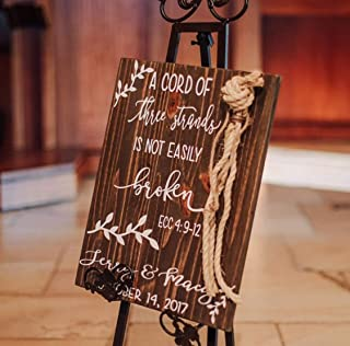 Adonis554Dan A Cord Of Three Strands Signs Alternative wedding Unity Signs Tie the Knot CeremonyStrand of three cords Signs Unity cord wedding Signs 12x16