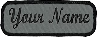 embroidered sew on name tags