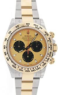 Rolex Cosmograph Daytona 40mm Champagne Paul Newman Dial Stainless Steel And Gold Men's Watch 116502