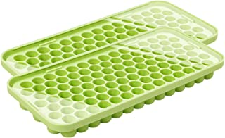 Webake Silicone Ice Cube Tray with Lid Small Ice Nugget Molds 101 Grids Mini Tiny Crushed Ice Trays 2 Pack For Chilled Dri...