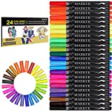 Best Fabric Markers - Fabric Marker, Emooqi 24 Colors Textile Marker Review