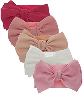 Newest Baby Bow Headbands Baby Turban Knotted Headband Nylon Elastic Headwraps for Baby Girl Hair Accessories