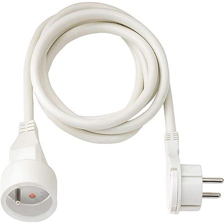 Brennenstuhl Rallonge 3m de câble avec fiche plate (utilisation en intérieur)