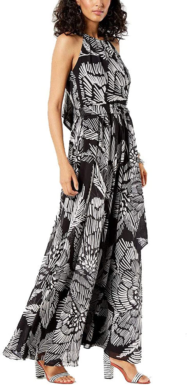 I.N.C. International Concepts Women's Petite Printed Halter Maxi Dress