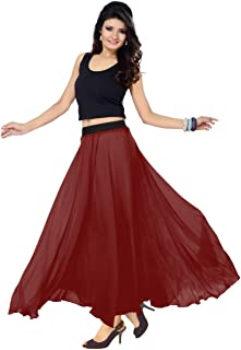 Sttoffa Solid Skirt Ladies Wear Faux Georgette Designer Long Skirt 36 inch Length and Full Lining
