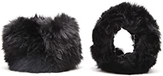 Womens Short Faux fur Cuffs for Wrist Arm Warmers Band Winter Accessory Christmas Gift