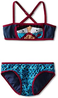Little Marc Jacobs Miss Marc Snorkeling Bikini Swimsuit Set Blue