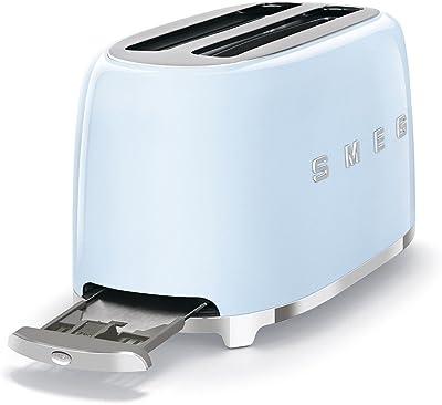 Smeg TSF02PBEU Toaster for Four Slices TSF02PBEU-pastel, Pastel Blue