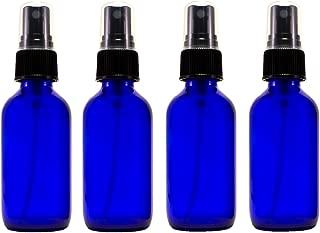 2oz Cobalt Atomizer Bottles (4 Pack) Fine Sprayer Atomizer Glass Essential Oil Bottle