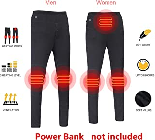 Insulated Heated Pants, USB Smart Thermostat Carbon Fiber Electric Heating Pant Slim Pant for Cycling Skiing