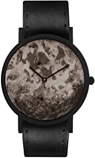 South Lane Swiss Quartz Stainless Steel and Leather Casual Watch, Color:Black (Model: core-SL-118)