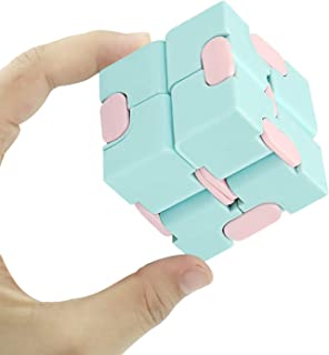 snow keychain Infinity Fidget Cube Toy Sensory Stress Relief Decompression Fidget Finger Toys Sensory Tool Magic Cube for Kids and Adults Infinite Cube for Kids Adults Office 1 pcs Blue