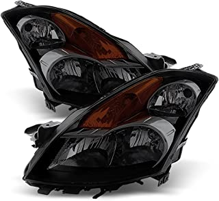 ACANII - For 2007-2009 Nissan Altima 4Dr Sedan Black Housing Smoked Lens Headlights Driver + Passenger Side Replacement