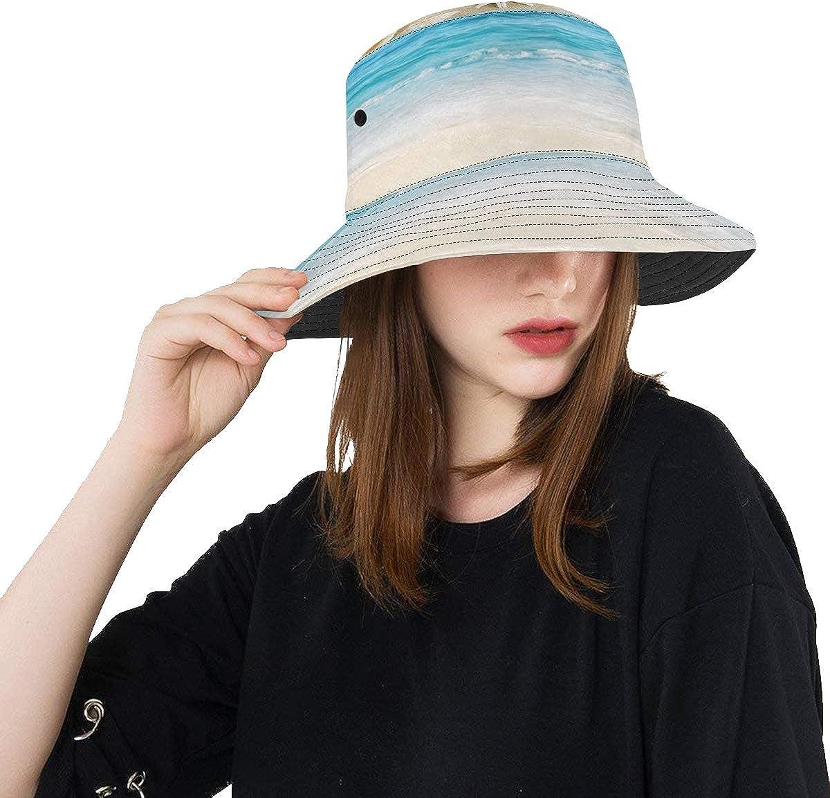 Woman Finally popular brand New life Bucket Hat Landscape Shells Unise Summer On Tropical Beach