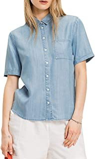 Tommy Hilfiger Women's Ww0Ww22601-Blue Shirts